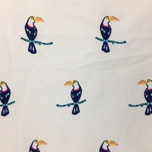 Martha Stewart Twin Toucan Sheets Flat & Fitted
